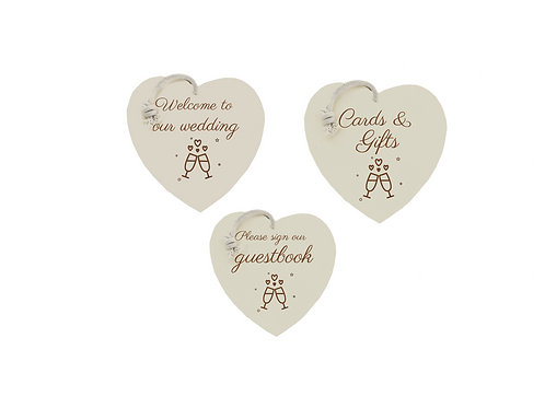 Wedding sign bundle (3 signs)- Bubbles & Fizz collection