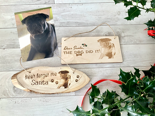 Two personalised plaques- dog did it/ don't forget me