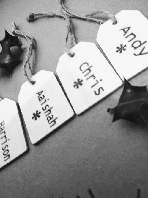 Wooden Engraved Personalised Gift Tag