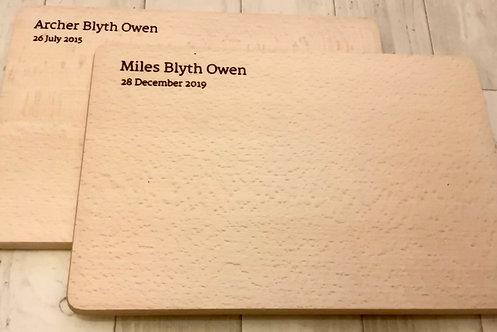 Solid Wood Personalised Food Board