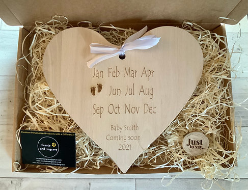 Expectant Mother Gift Board- baby due month