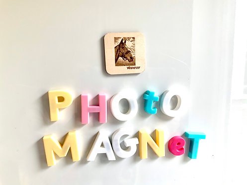 Wooden Personalised Photo Magnet