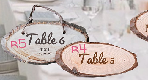 Rustica Table Numbers- Ovals