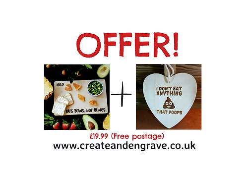 Vegan Board and Plaque Offer