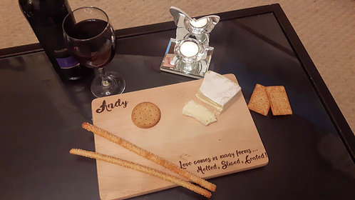 Personalised Cheese Board- Love in Different Forms