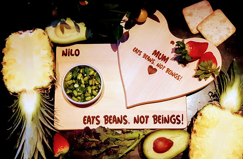Vegan Personalised Board- Eat Beans not Beings
