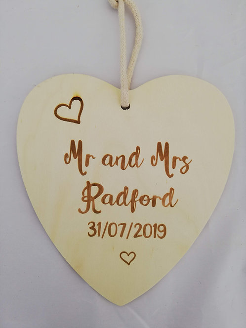 Personalised Wooden Anniversary Plaque