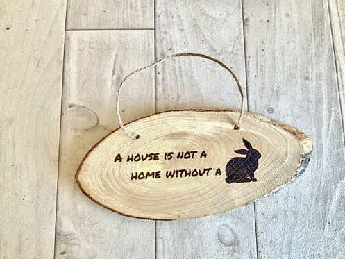 Hanging Bunny Sign 20cm