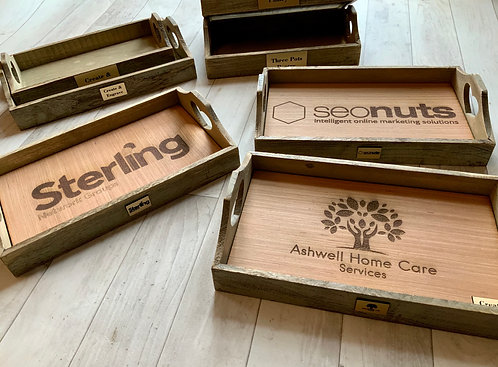 Personalised Wooden Trays x 10