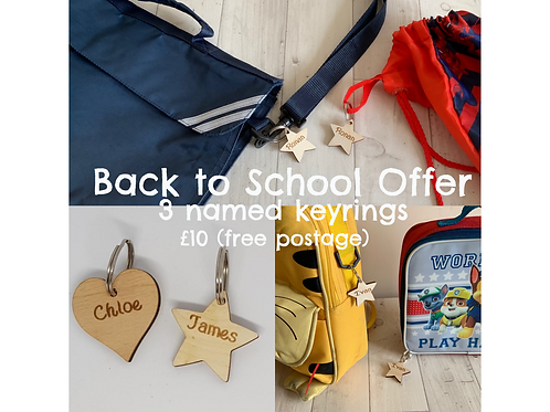 Back to School 3 keyring offer