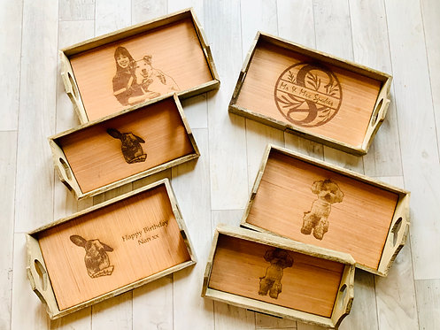 Personalised Wooden Trays