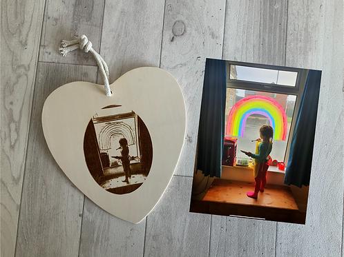 """""""Hope"""" Rainbow Door/ Window Hanging Plaque"""