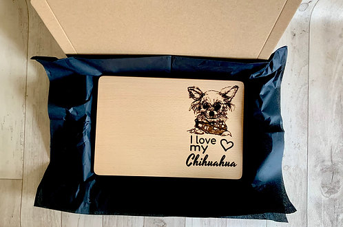 """I Love my Chihuahua"" Chopping Board"