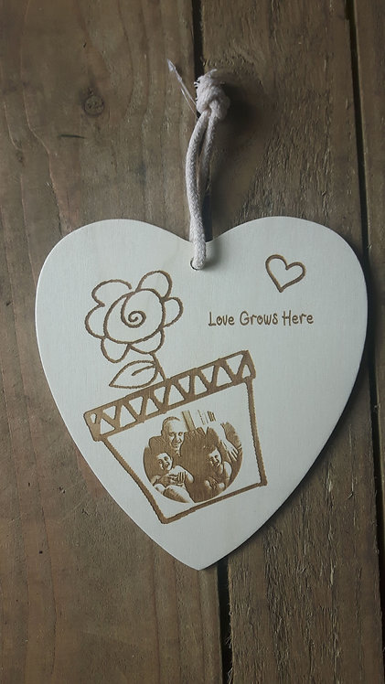 Personalised Photo Plaque- Love Grows Here
