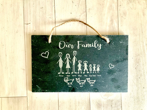 Large Personalised Plaque- Our Family