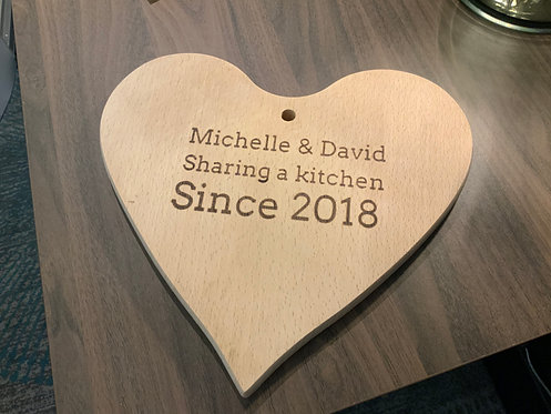 Couple's Personalised Heart Board