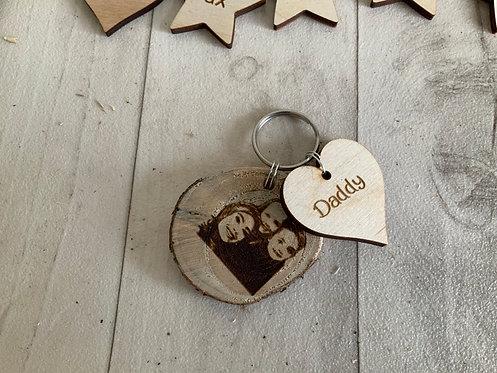 Duo-Wooden Personalised Keyrings