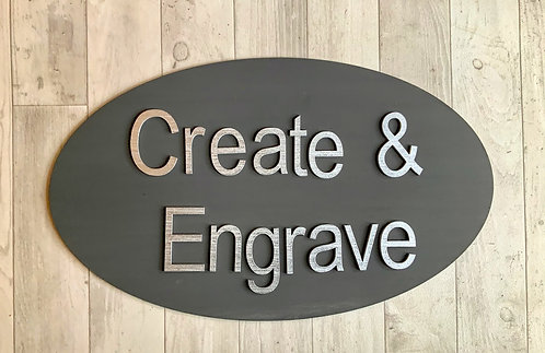 Personalised Business Signage 50cm Various Options
