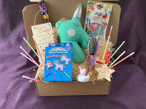 Unicorn themed Christmas gift box/ Hamper