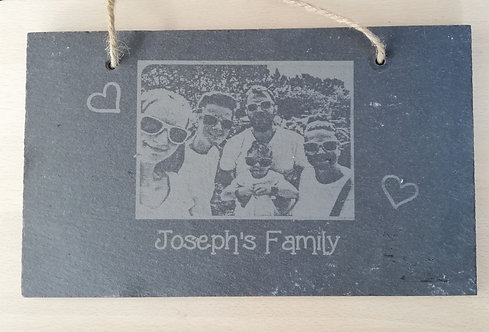 Large Slate Photo Plaque