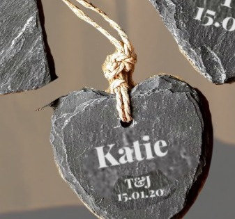 Personalised 5cm Favor/ Placeholder/ Gift (Simply Slate)