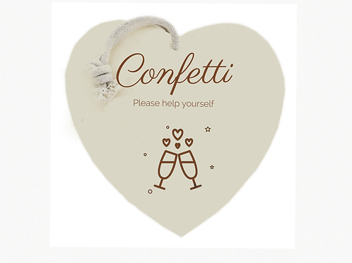 """""""Confetti"""" sign (Bubbles &Fizz collection)"""