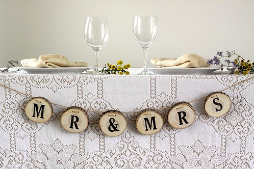Wooden Bunting