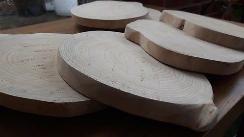 Wooden Slices for Centrepieces/ Placemats (Smooth)