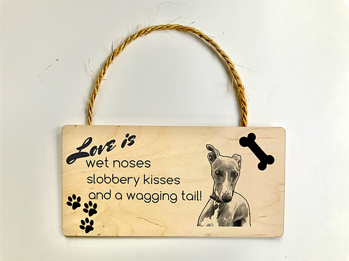 Love is... Personalised Photo Plaque