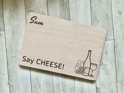 "Personalised Cheese Board- ""Say CHEESE!"""