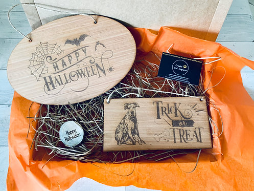 2 x Personalised Halloween Plaques- Various Design Options