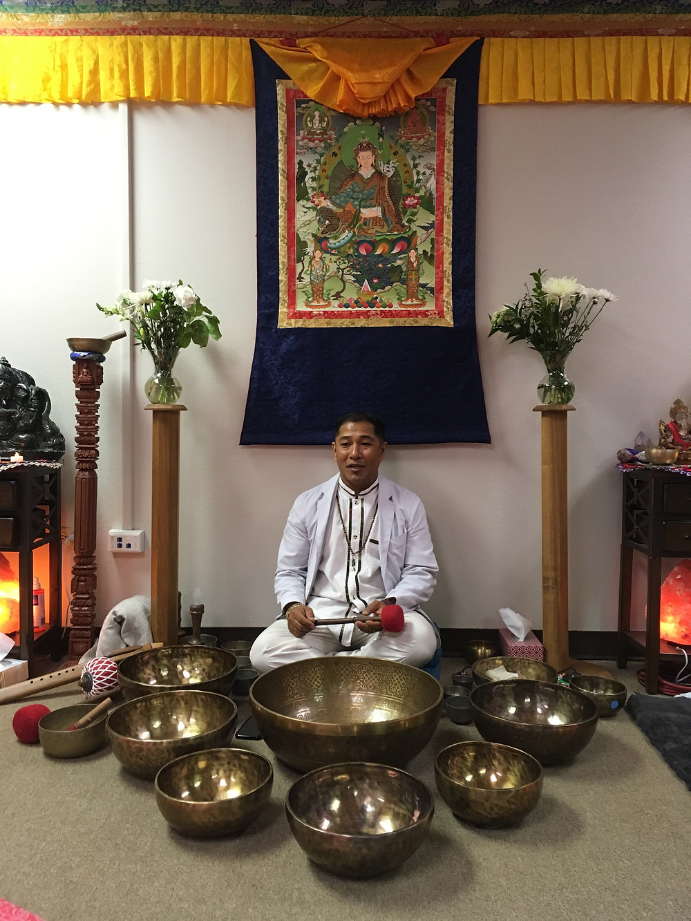 Suren Shrestha discusses Traditional Healing Methods with Singing Bowls