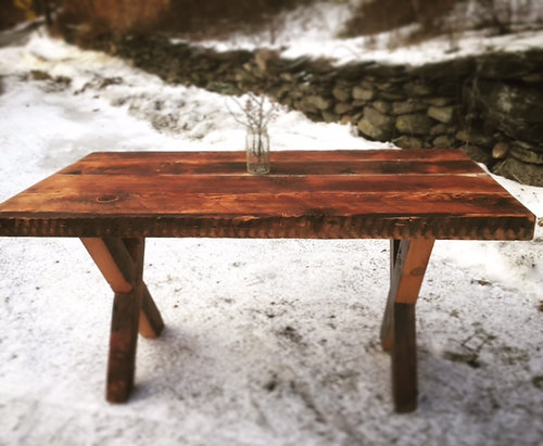 5u0027 Reclaimed Wood Farmhouse Table