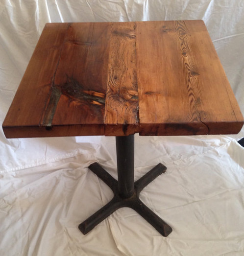 Handcrafted 2x2 Tables Are Made From Reclaimed Barn Wood From A Barn In  Cortland County, NY. Each Top Is Composed Of Varying Widths Of Aged Hemlock  And Pine ...