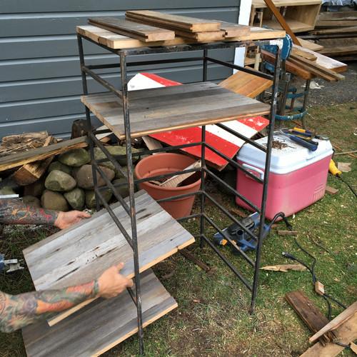 SOLD!!!!! Adjustable Barn Wood Shelf