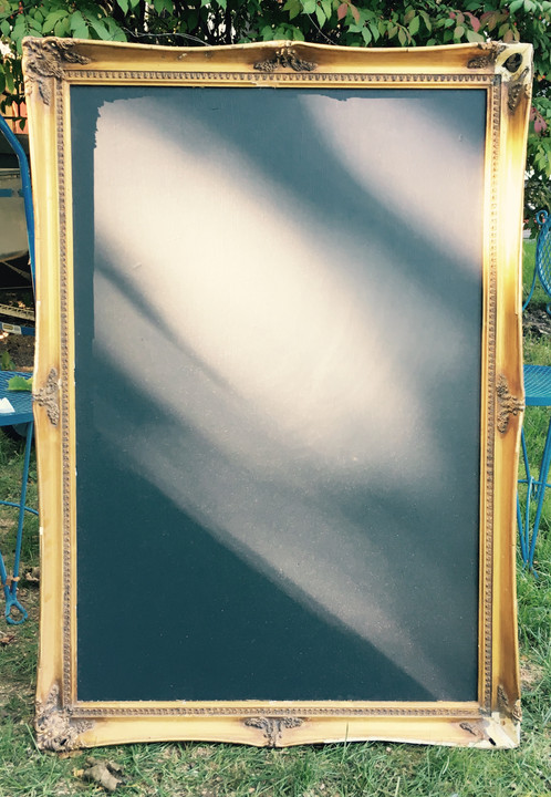 chalkboard in 26x38 gilded frame