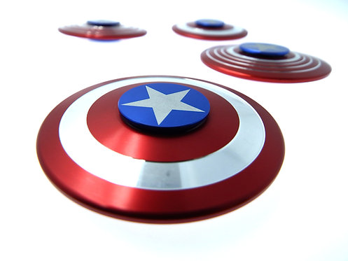 Spinner con diseño de Escudo de Capitan America Ideal para Fans