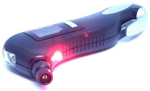 Manometro Medidor de Presión Llantas 150 PSI para EMERGENCIAS con linterna