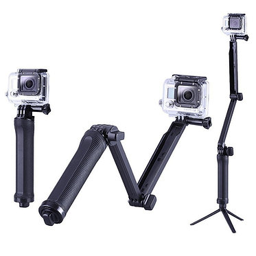 Tripié 3 way pole para Go Pro y Action Cameras