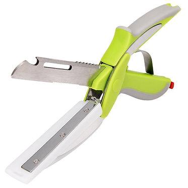 Tijera Clever Cutter convertible en cuchillo