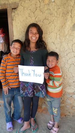 Samir, Subi und Shakar sagen Danke!