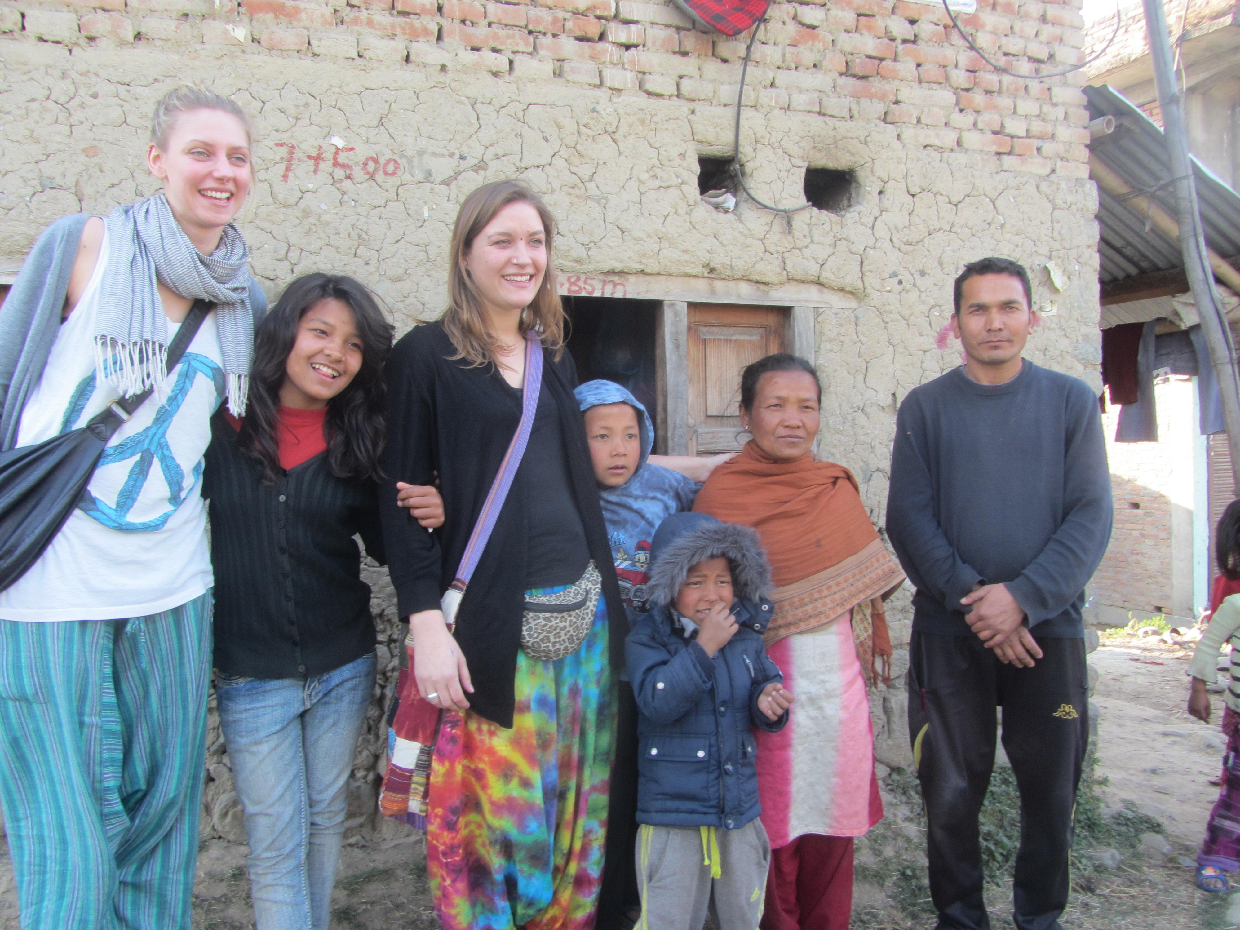 Family Nepali+Raj Kumar+Wiebke+Alina
