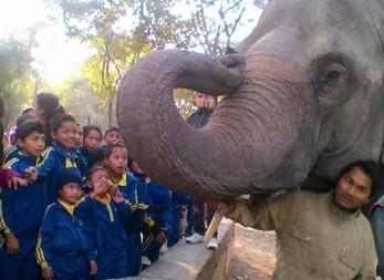 Tag im Zoo für die Kinder aus Kharipati