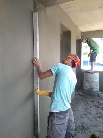Feinschliff auf der Baustelle