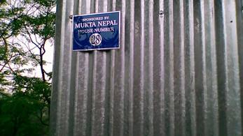 Mukta Nepal Häuser haben Hausnummern