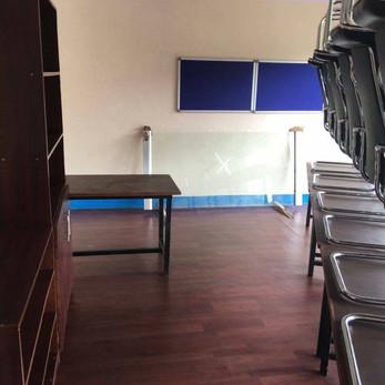 Schulungsraum für Bewohner Kharipatis