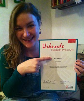 "Elisabeth Preis 2014 ""jung + engangiert"""