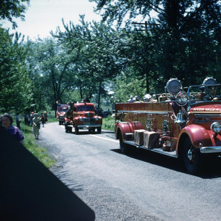 RVFD in a Parade, 1950's