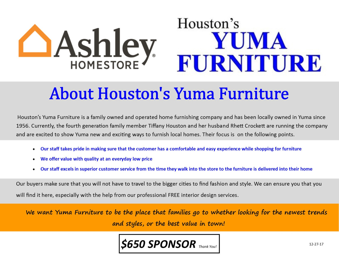 Houstons Furniture Wall Fund