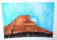 Moon on the Mountain